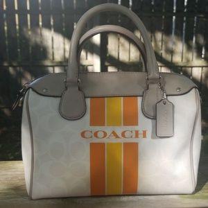 Coach Bennett satchel with varsity stripe